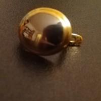 Утеряна золотая серёжка со вставкой (гладкий камень)