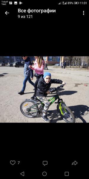 Потерян зеленый велосипед